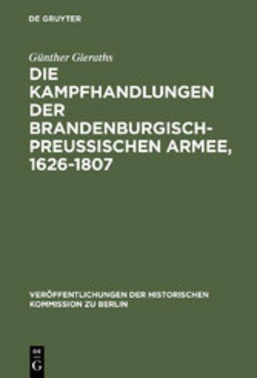 eBook Die Kampfhandlungen der Brandenburgisch-Preussischen Armee, 1626-1807 Cover