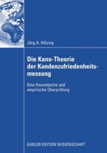eBook Die Kano-Theorie der Kundenzufriedenheitsmessung Cover