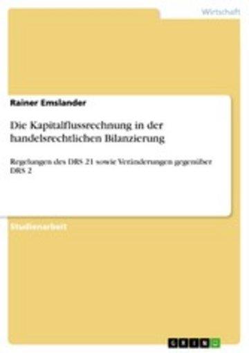 eBook Die Kapitalflussrechnung in der handelsrechtlichen Bilanzierung Cover