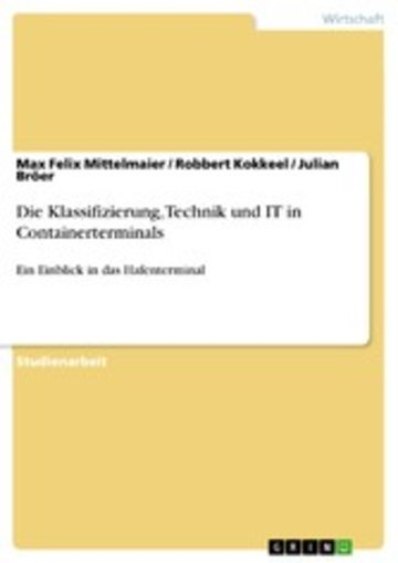 eBook Die Klassifizierung, Technik und IT in Containerterminals Cover