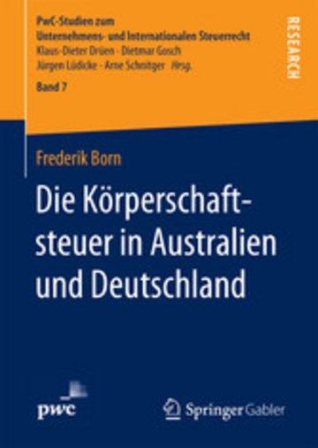 eBook Die Körperschaftsteuer in Australien und Deutschland Cover