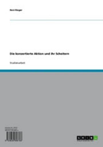 eBook Die konzertierte Aktion und ihr Scheitern Cover