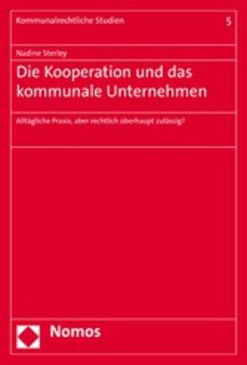 eBook Die Kooperation und das kommunale Unternehmen Cover