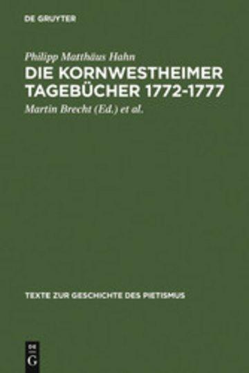 eBook Die Kornwestheimer Tagebücher 1772-1777 Cover