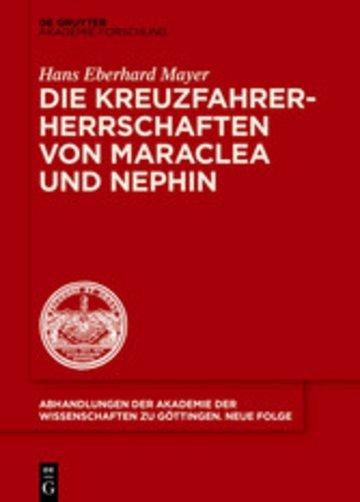 eBook Die Kreuzfahrerherrschaften von Maraclea und Nephin Cover