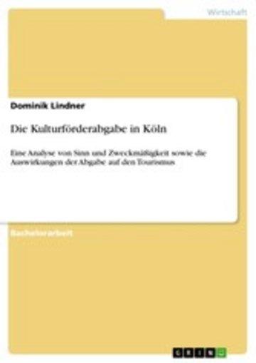 eBook Die Kulturförderabgabe in Köln Cover