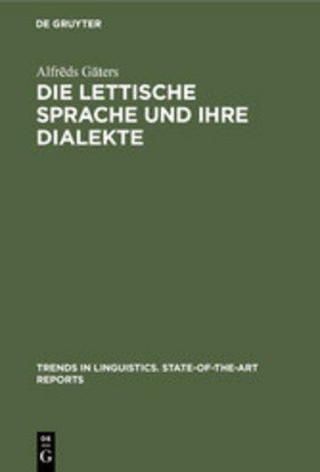 eBook Die lettische Sprache und ihre Dialekte Cover