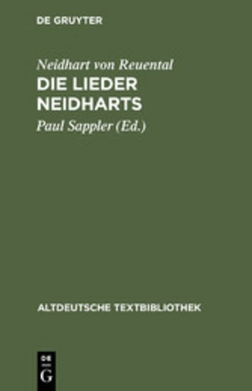eBook Die Lieder Neidharts Cover