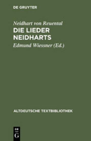eBook Die Lieder Neidharts Cover