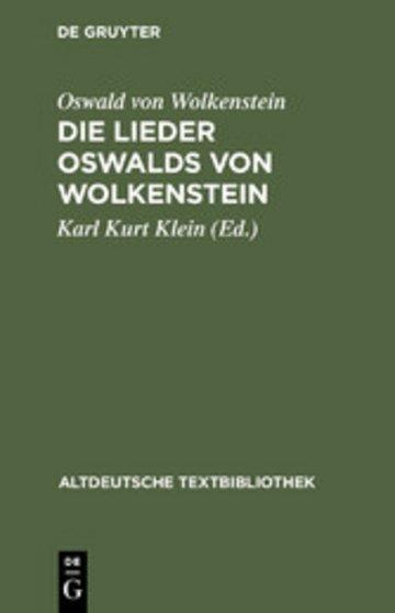 eBook Die Lieder Oswalds von Wolkenstein Cover