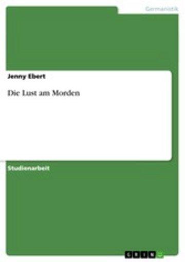 eBook Die Lust am Morden Cover
