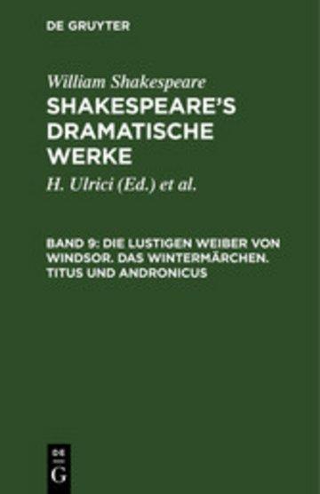 eBook Die lustigen Weiber von Windsor. Das Wintermärchen. Titus und Andronicus Cover