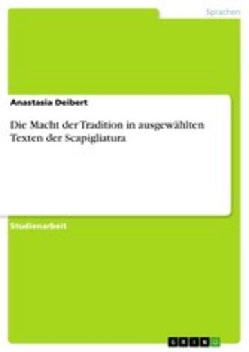 eBook Die Macht der Tradition in ausgewählten Texten der Scapigliatura Cover