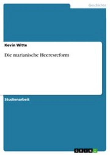 eBook Die marianische Heeresreform Cover