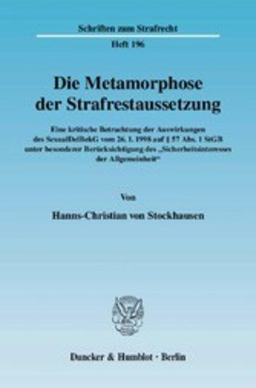 eBook Die Metamorphose der Strafrestaussetzung. Cover