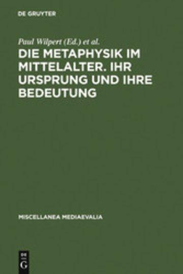 eBook Die Metaphysik im Mittelalter. Ihr Ursprung und ihre Bedeutung Cover