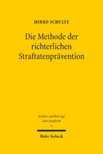 eBook Die Methode der richterlichen Straftatenprävention Cover
