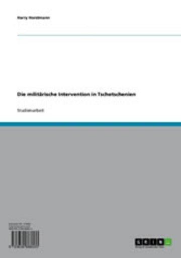 eBook Die militärische Intervention in Tschetschenien Cover