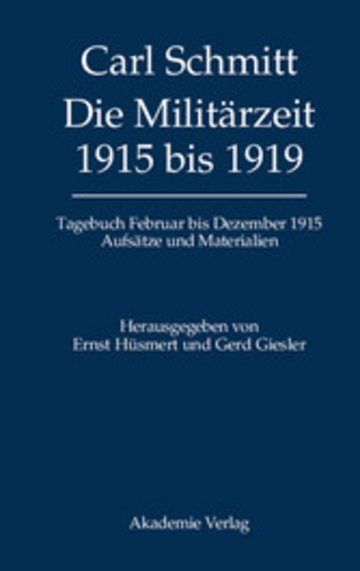 eBook Die Militärzeit 1915 bis 1919 Cover