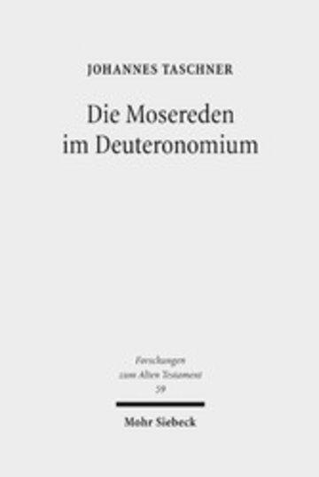 eBook Die Mosereden im Deuteronomium Cover