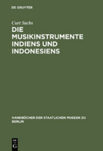eBook Die Musikinstrumente Indiens und Indonesiens Cover