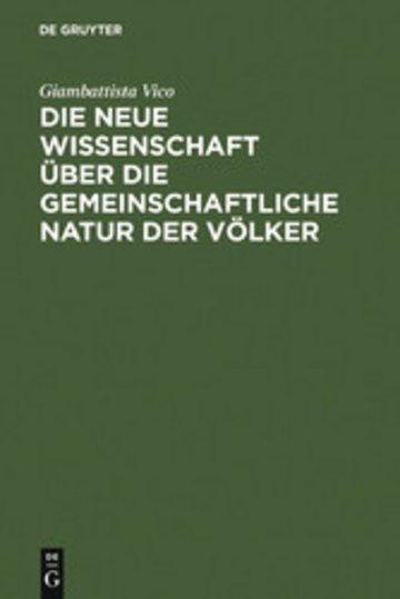eBook Die neue Wissenschaft über die gemeinschaftliche Natur der Völker Cover