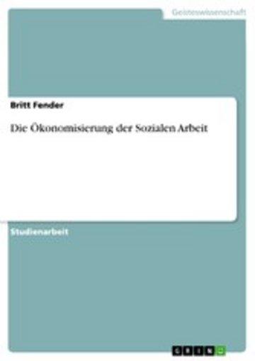 eBook Die Ökonomisierung der Sozialen Arbeit Cover