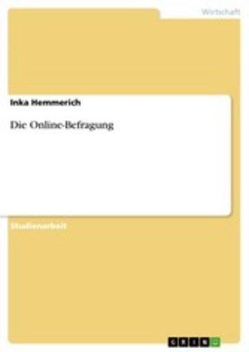 eBook Die Online-Befragung Cover