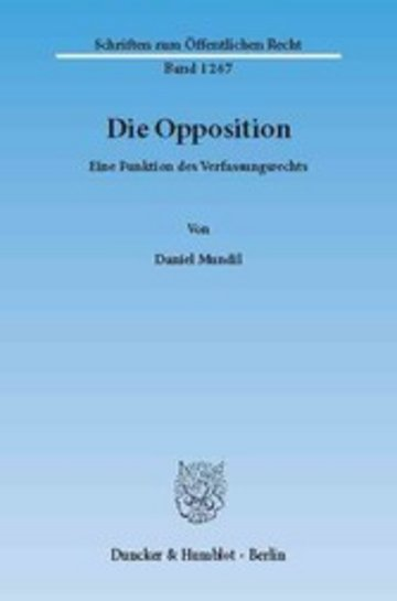 eBook Die Opposition. Cover