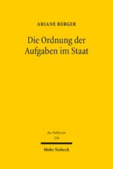 eBook Die Ordnung der Aufgaben im Staat Cover