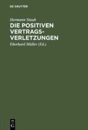 eBook Die positiven Vertragsverletzungen Cover