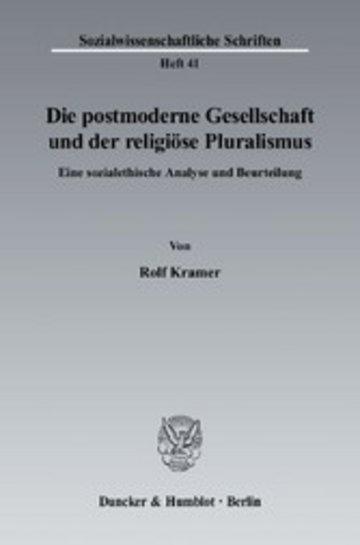 eBook Die postmoderne Gesellschaft und der religiöse Pluralismus. Cover