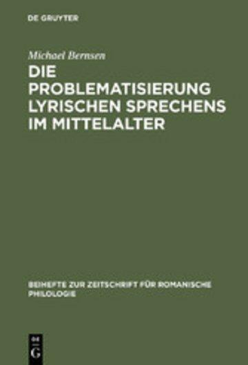 eBook Die Problematisierung lyrischen Sprechens im Mittelalter Cover