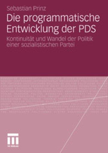 eBook Die programmatische Entwicklung der PDS Cover