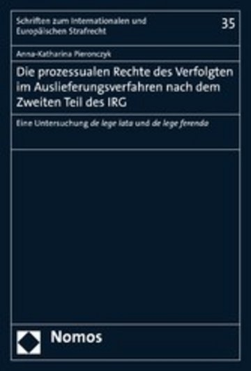eBook Die prozessualen Rechte des Verfolgten im Auslieferungsverfahren nach dem Zweiten Teil des IRG Cover