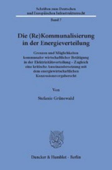 eBook Die (Re)Kommunalisierung in der Energieverteilung. Cover