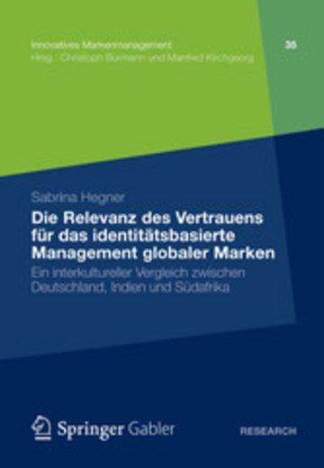 eBook Die Relevanz des Vertrauens für das identitätsbasierte Management globaler Marken Cover