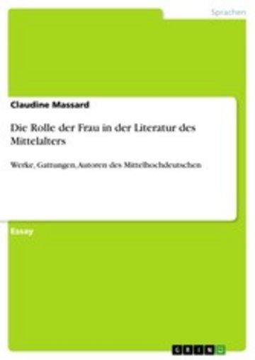 eBook Die Rolle der Frau in der Literatur des Mittelalters Cover
