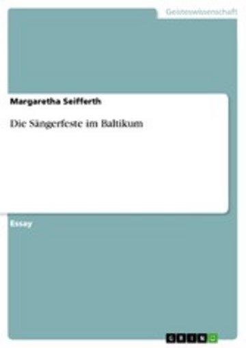eBook Die Sängerfeste im Baltikum Cover