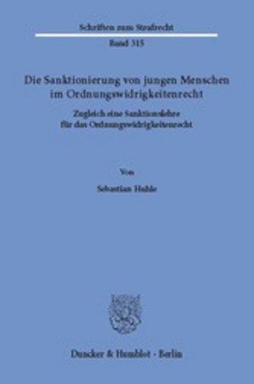 eBook Die Sanktionierung von jungen Menschen im Ordnungswidrigkeitenrecht. Cover