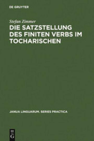 eBook Die Satzstellung des finiten Verbs im Tocharischen Cover