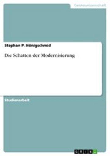 eBook Die Schatten der Modernisierung Cover