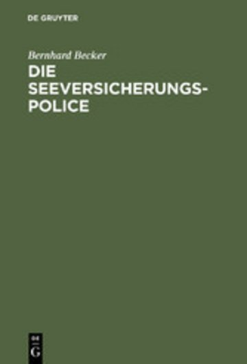 eBook Die Seeversicherungs-Police Cover