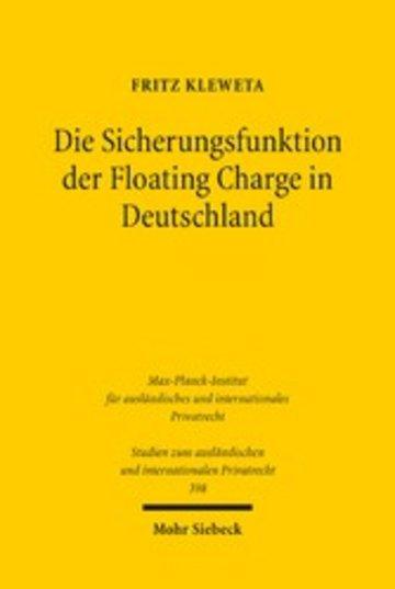 eBook Die Sicherungsfunktion der Floating Charge in Deutschland Cover