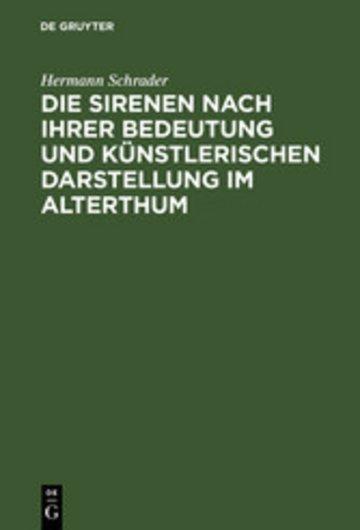 eBook Die Sirenen nach ihrer Bedeutung und künstlerischen Darstellung im Alterthum Cover
