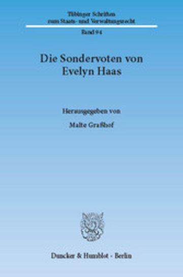 eBook Die Sondervoten von Evelyn Haas. Cover