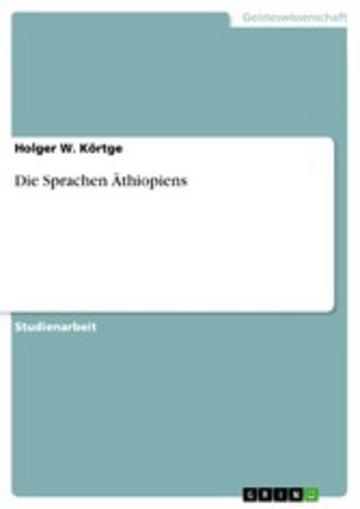 eBook Die Sprachen Äthiopiens Cover
