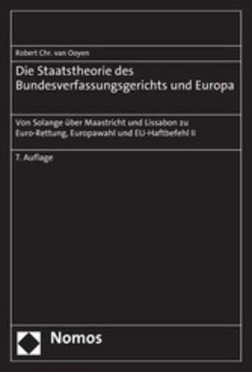 eBook Die Staatstheorie des Bundesverfassungsgerichts und Europa Cover