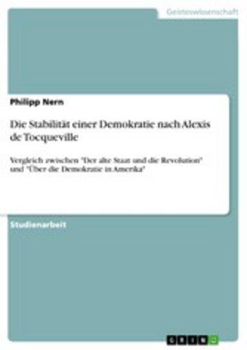 eBook Die Stabilität einer Demokratie nach Alexis de Tocqueville Cover