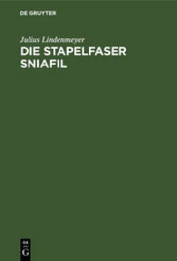eBook Die Stapelfaser Sniafil Cover